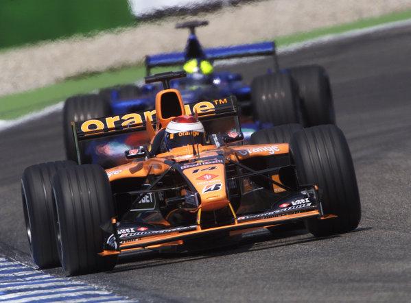 2001 German Grand Prix - PracticeHockenheim, Germany. 27th July 2001.Jos Verstappen, Arrows A22 AsiaTech, action.World Copyright: Steve Etherington/LAT Photographic.ref: 16mb Digital Image
