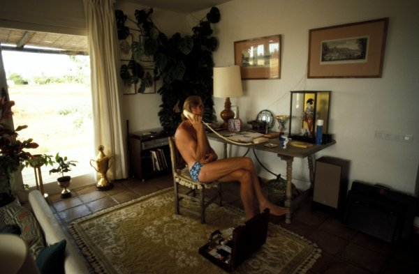 James Hunt (GBR) at home.