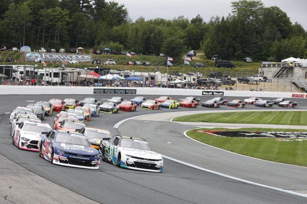 #10: Jeb Burton, Kaulig Racing, Chevrolet Camaro LS Tractors, #11: Justin Haley, Kaulig Racing, Chevrolet Camaro LeafFilter Gutter Protection