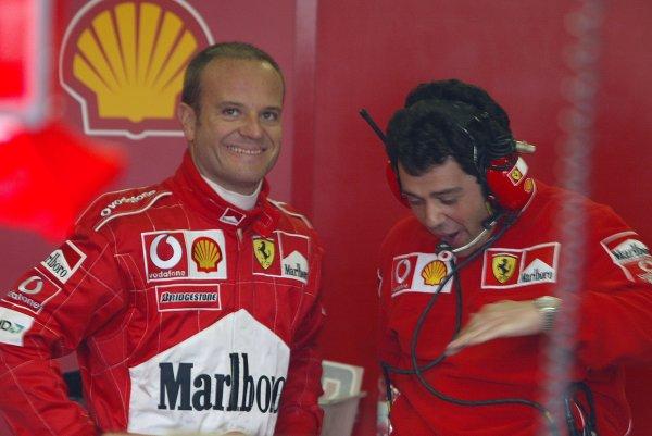 2002 European Grand Prix - PracticeNurburgring, Germany. 21st June 2002Rubens Barrichello (Ferrari).World Copyright: Steve Etherington/LATref: Digital Image Only