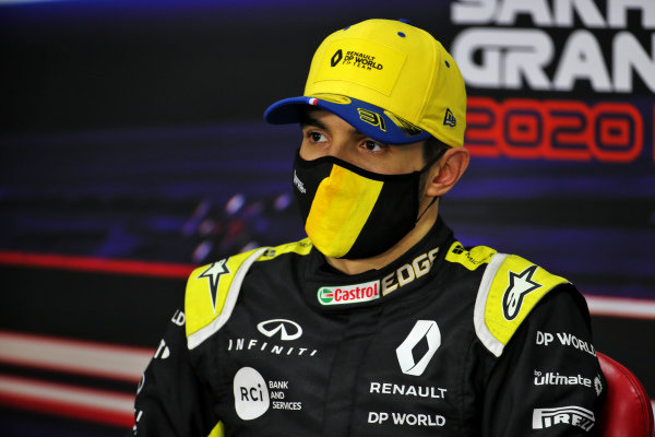 Esteban Ocon, Renault F1, 2nd position, in the Press Conference