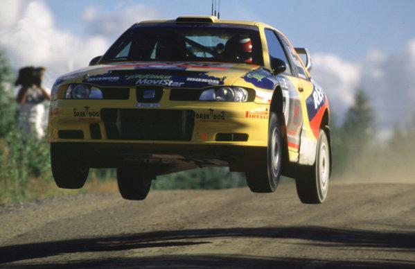 WRC Neste Rally of Finland 200017th - 20th August 2000. Rd 9/13.Didier Auriol, SEAT, action.Photo:McKlein/LATRef 35mm A18