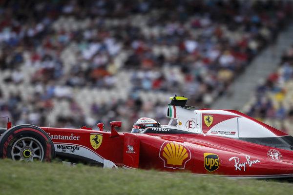 Kimi Raikkonen (FIN) Ferrari SF16-H at Formula One World Championship, Rd12, German Grand Prix, Qualifying, Hockenheim, Germany, Saturday 30 July 2016.