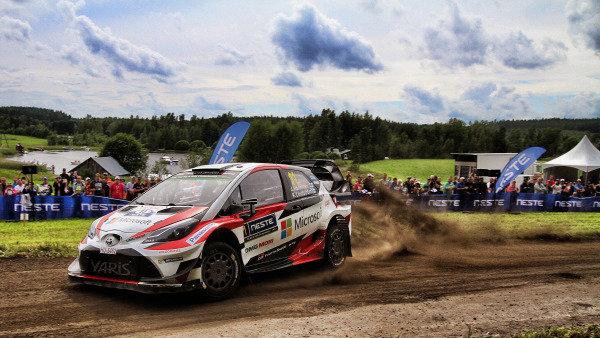 Juho Hanninen (FIN) / Kaj Lindstrom (FIN), Toyota Gazoo Racing Toyota Yaris WRC at World Rally Championship, Rd9, Rally Finland, Day Two, Jyvaskyla, Finland, 29 July 2017.