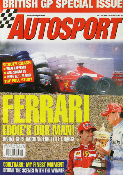 Cover of Autosport magazine, 15th July 1999