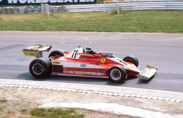 1978 British Grand Prix.Brands Hatch, England.14-16 July 1978.Carlos Reutemann (Ferrari 312T3) 1st position.Ref-78 GB 01.World Copyright - LAT Photographic