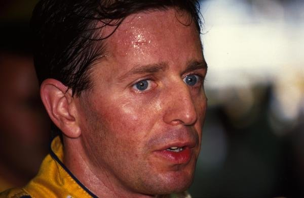 Martin Brundle shows the heat after finishing 4th.