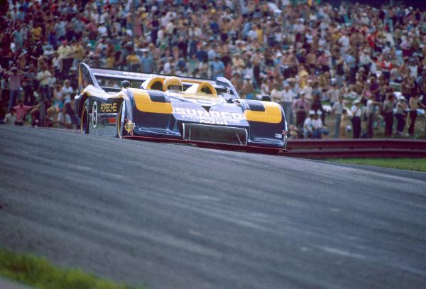 Lexington, Mid-Ohio, USA. 12th August 1973. Rd 4.Mark Donohue (Porsche 917/30 TC), 1st position, action.World Copyright: LAT Photographic.Ref: Colour Transparency.