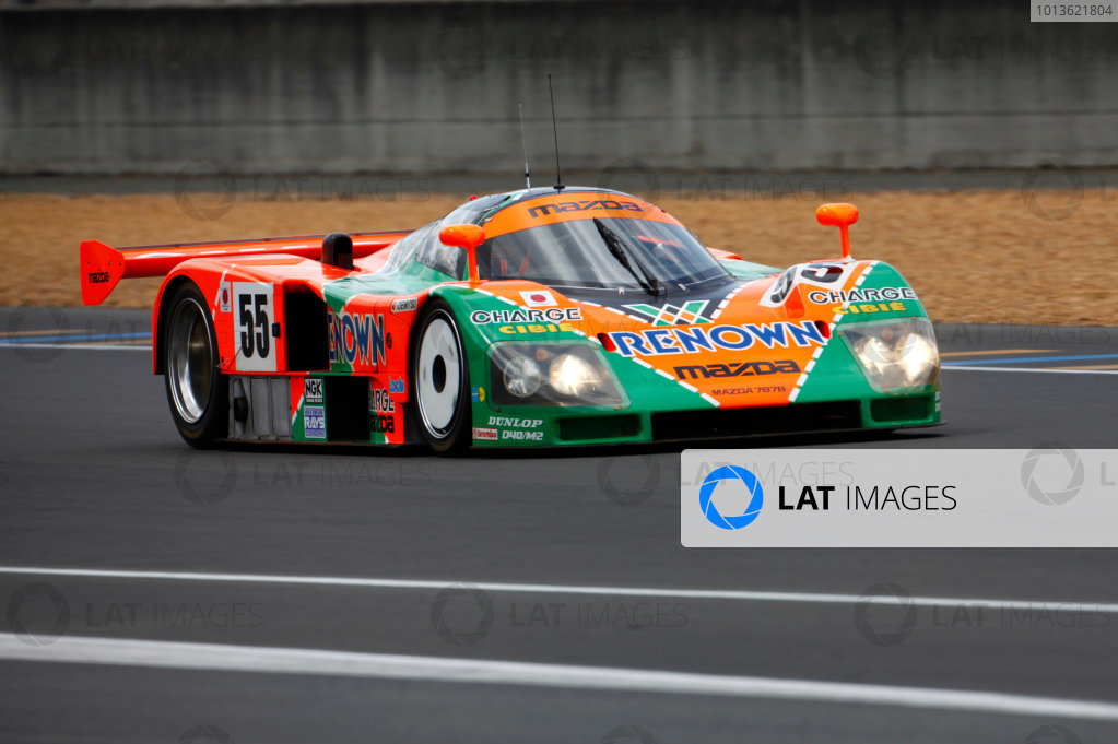 Circuit de La Sarthe, Le Mans, France. 5th - 12th June 2011. Johnny Herbert drives the Mazda 787B that he won the 1991 event in around the track. Action. Photo: Alastair Staley/LAT Photographic. ref: Digital Image AS5D9999