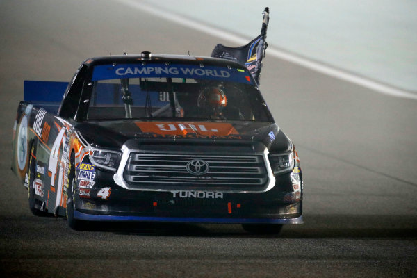 NASCAR Camping World Truck Series Ford EcoBoost 200 Homestead-Miami Speedway, Homestead, FL USA Friday 17 November 2017 Champion Christopher Bell, JBL Toyota Tundra, burnout World Copyright: Michael L. Levitt LAT Images