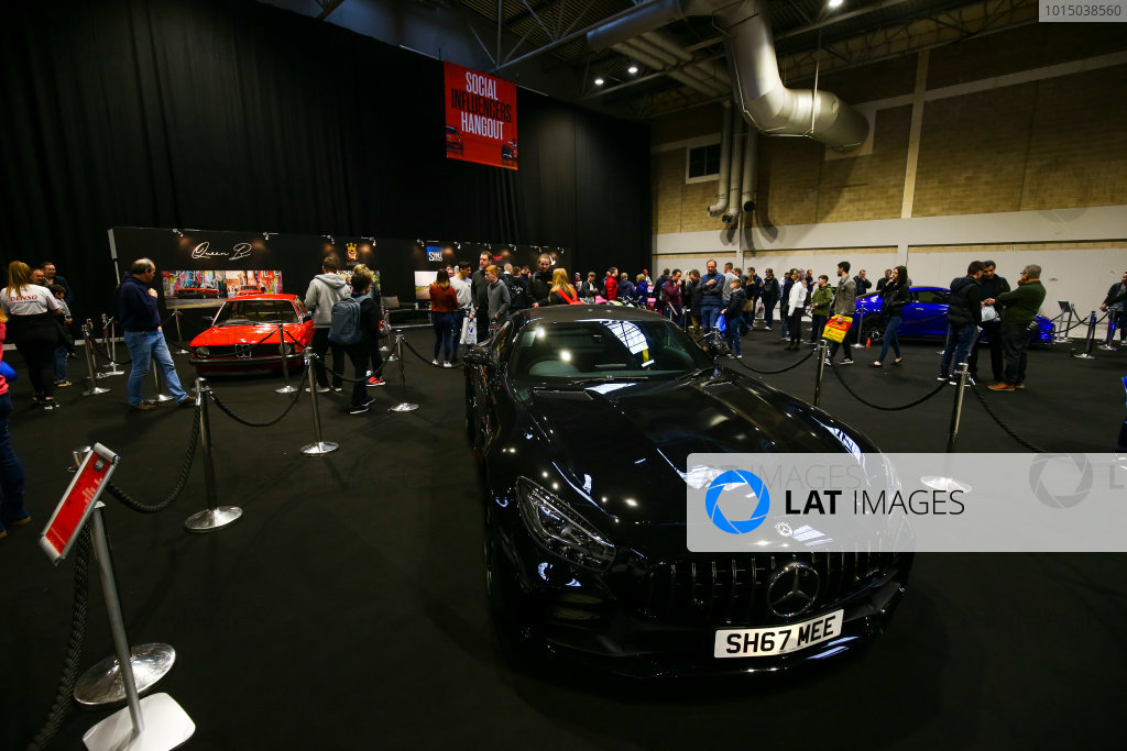 Autosport International Exhibition. National Exhibition Centre, Birmingham, UK. Sunday 14th January 2018. A Mercedes on display.World Copyright: Mike Hoyer/JEP/LAT Images Ref: AQ2Y0025
