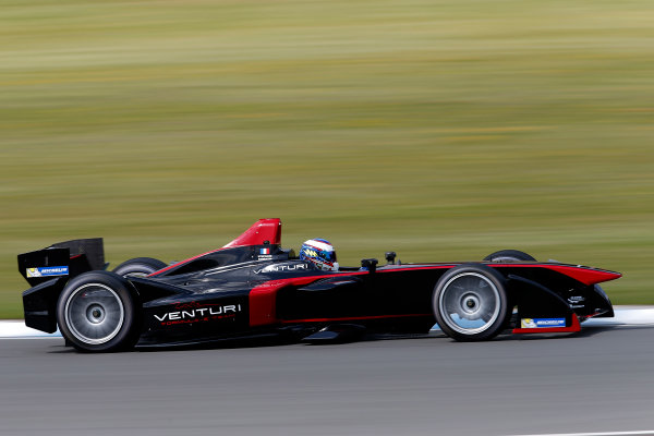 FIA Formula E Test Day, Donington Park, UK.  9th - 10th July 2014.  Stephane Sarrazin, Venturi Grand Prix. Photo: Glenn Dunbar/FIA Formula E ref: Digital Image _89P3620