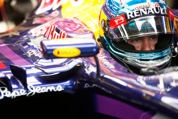 Hungaroring, Budapest, Hungary. Sunday 27 July 2014. Sebastian Vettel, Red Bull Racing. World Copyright: Charles Coates/LAT Photographic. ref: Digital Image _J5R9557