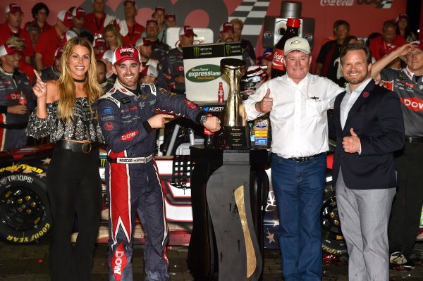Monster Energy NASCAR Cup Series Coca-Cola 600 Charlotte Motor Speedway, Concord, NC USA Monday 29 May 2017 Austin Dillon, Richard Childress Racing, Dow Salutes Veterans Chevrolet SS celebrates his win in Victory Lane World Copyright: Nigel Kinrade LAT Images ref: Digital Image 17CLT2nk10526