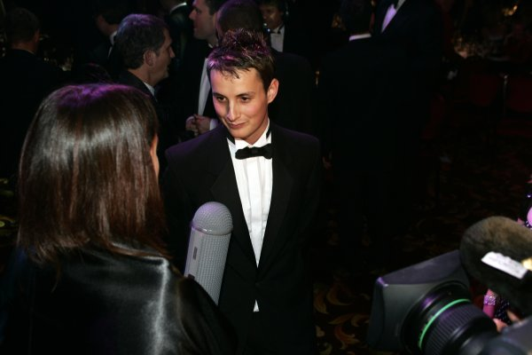 2005 Autosport AwardsGrosvenor House, London. 4th December.McLaren Autosport BRDC Young Driver Award winner Oliver Jarvis faces the cameras.World Copyright: Malcolm Griffiths/LAT Photographicref: Digital Image Only