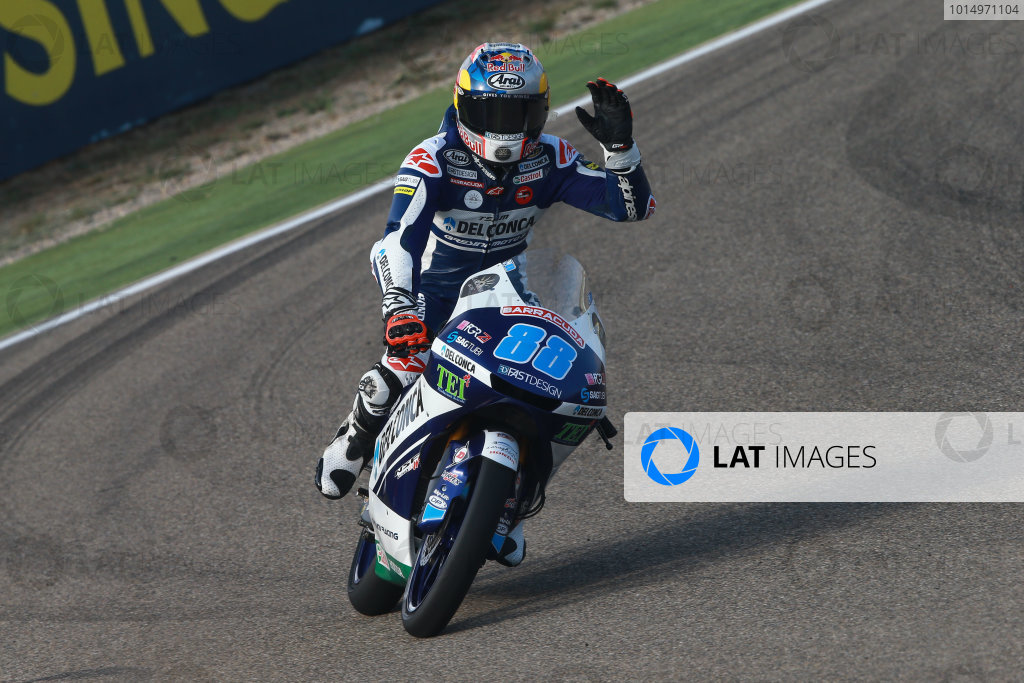 2017 Moto3 Championship - Round 14 Aragon, Spain. Saturday 23 September 2017 Jorge Martin, Del Conca Gresini Racing Moto3 World Copyright: Gold and Goose / LAT Images ref: Digital Image 14022