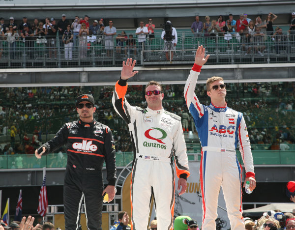 29 May, 2016, Indianapolis, Indiana, USA Alex Tagliani, Buddy Lazier and Jack Hawksworth ©2016, Maria W. Grady LAT Photo USA