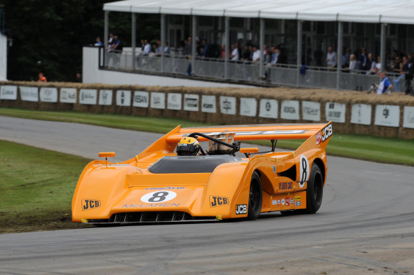 2016 Goodwood Festival of Speed Goodwood Estate, West Sussex,England 23rd - 26th June 2016 Andy Newall McLaren M8F World Copyright : Jeff Bloxham/LAT Photographic Ref : Digital Image