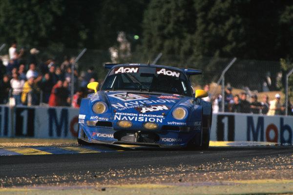 Le Mans, France. 12th - 13th June 1999.Claudia Hurtgen/Andre Ahrle/Vincent Vosse (Porsche 993 GT2), 20th position, action. World Copyright: LAT Photographic.Ref:  99LM24.