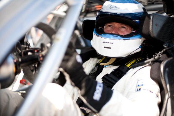 6 Hours of Zhuhai.Zhuhai, China. 11th - 13th November 2011. Mika Hakkinen, Team AMG China, Mercedes SLS AMG GT3. Portrait. Drew Gibson/LAT Photographic. ref: Digital Image _Y2Z3939