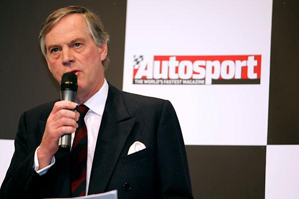 2005 Autosport International ExhibitionNEC, Birmingham, UK. 13th - 16th January.Lord Astor of Hever (MIA Chairman) opens the show. Portrait.World Copyright: Glenn Dunbar/LAT Photographicref: Digital Image Only