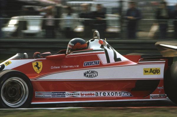 Zolder, Belgium. 19 - 21 May 1978.Gilles Villeneuve (Ferrari 312T3), 4th position, action. World Copyright: Bill Murenbeeld/LAT Photographic.Ref:  78BEL14.