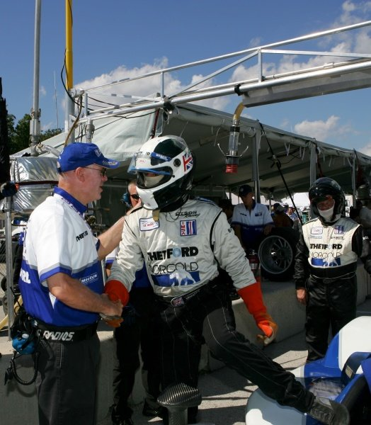 James Weaver (GBR) Dyson Racing set the pole. American Le Mans Series, Rd7, Road America, Elkhart Lake, USA, 19-21 August 2005. DIGITAL IMAGE