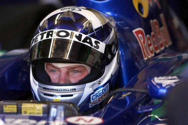 Kimi Raikkonen's debut season for Sauber in 2001