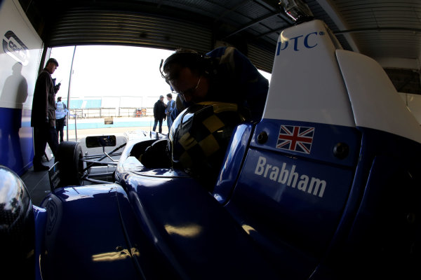 2014 British Formula 3 International Series, Media Day. Donington Park, Leicestershire. 8th April 2014. Sam Brabham (GBR) Carlin Dallara Volkswagen. World Copyright: Jakob Ebrey / LAT Photographic.