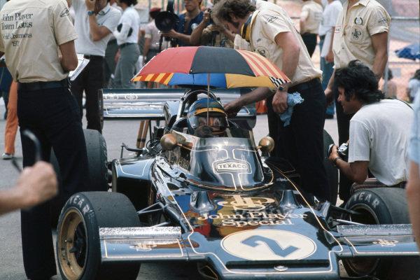 1973 Brazilian Grand Prix.  Interlagos, Sao Paulo, Brazil. 9-11th February 1973.  Ronnie Peterson, Lotus 72D Ford.  Ref: 73BRA08. World Copyright: LAT Photographic