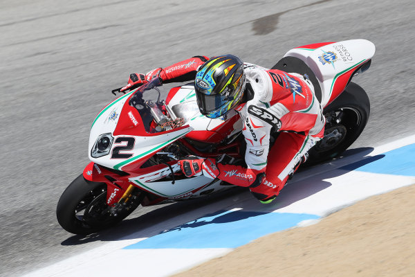 2017 Superbike World Championship - Round 8 Laguna Seca, USA. Friday 7 July 2017 Leon Camier, MV Agusta World Copyright: Gold and Goose/LAT Images ref: Digital Image 683080
