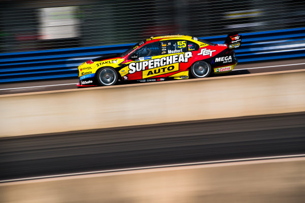 2017 Supercars Championship Round 6.  Darwin Triple Crown, Hidden Valley Raceway, Northern Territory, Australia. Friday June 16th to Sunday June 18th 2017. Chaz Mostert drives the #55 Supercheap Auto Racing Ford Falcon FGX. World Copyright: Daniel Kalisz/LAT Images Ref: Digital Image 160617_VASCR6_DKIMG_0920.JPG