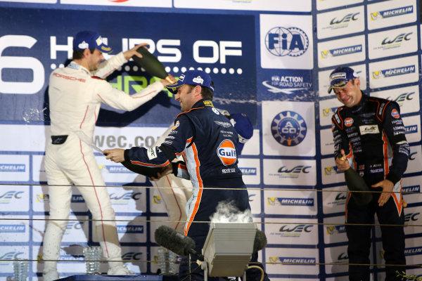 2015 FIA World Endurance Championship, Bahrain International Circuit, Bahrain. 19th - 21st November 2015. Darren Turner / Jonathan Adam Aston Martin Racing Aston Martin Vantage V8. World Copyright: Jakob Ebrey / LAT Photographic.
