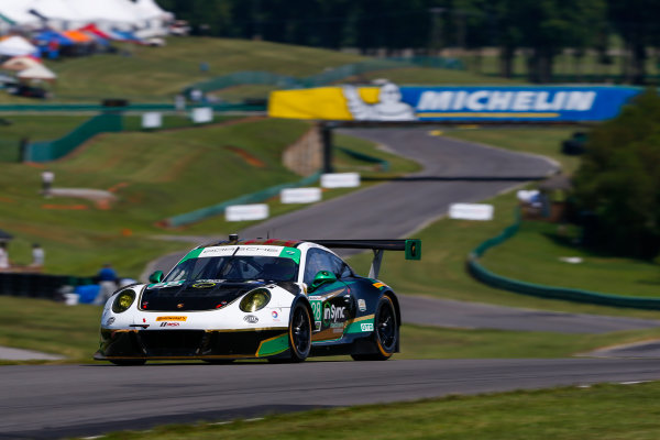 IMSA WeatherTech SportsCar Championship Michelin GT Challenge at VIR Virginia International Raceway, Alton, VA USA Friday 25 August 2017 28, Porsche, Porsche 911 GT3 R, GTD, Patrick Long, Daniel Morad World Copyright: Jake Galstad LAT Images