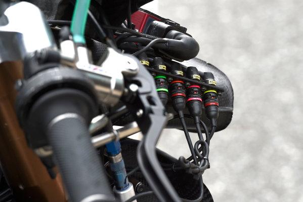 2017 Moto2 Championship - Round 16 Phillip Island, Australia. Thursday 19 October 2017 Xavi Vierge, Tech 3 Racing bike detail World Copyright: Gold and Goose / LAT Images ref: Digital Image 698235