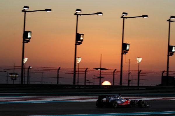 Yas Marina Circuit, Abu Dhabi, United Arab Emirates12th November 2011.Lewis Hamilton, McLaren MP4-26 Mercedes. Action. World Copyright:Glenn Dunbar/LAT Photographic ref: Digital Image _G7C4471