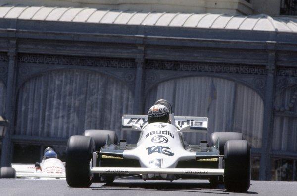 1981 Monaco Grand Prix Monte Carlo, Monaco. 28-31 May 1981. Alan Jones (Williams FW07C-Ford Cosworth), 2nd position. Ref: 81MON04. World Copyright - LAT Photographic