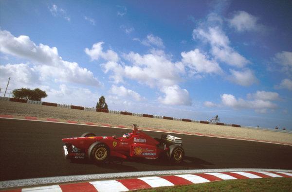 Estoril, Portugal.20-22 September 1996.Michael Schumacher (Ferrari F310) 3rd position.Ref-96 POR 05.World Copyright - LAT Photographic