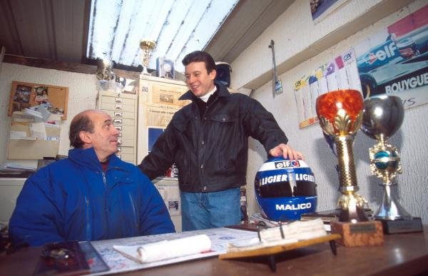 Olivier Panis at home in Grenoble, France.