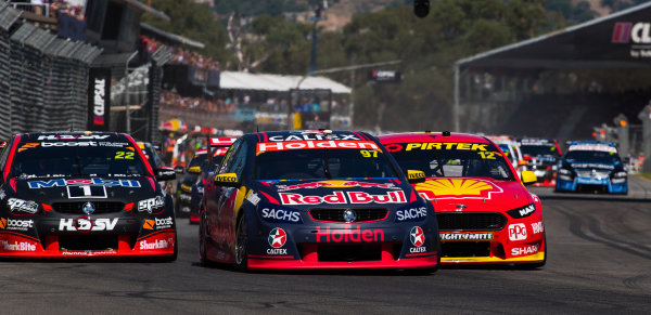 2017 Supercars Championship Round 1.  Clipsal 500, Adelaide, South Australia, Australia. Thursday March 2nd to Sunday March 5th 2017. Shane Van Gisbergen drives the #97 Red Bull Holden Racing Team Holden Commodore VF. World Copyright: Daniel Kalisz/LAT Images Ref: Digital Image 040317_VASCR1_DKIMG_6314.JPG