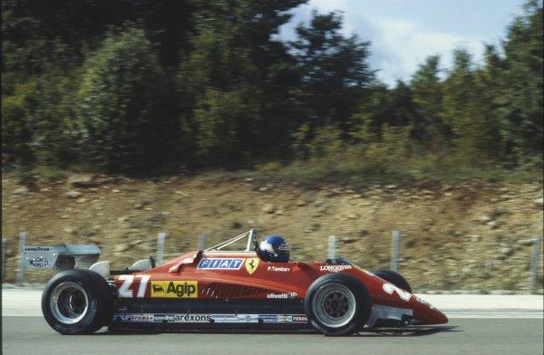 1982 Swiss Grand Prix. Dijon-Prenois, France. 29 August 1982. Patrick Tambay (Ferrari 126C2), action. World Copyright: LAT Photographic Ref: 35mm transparency 82SUI
