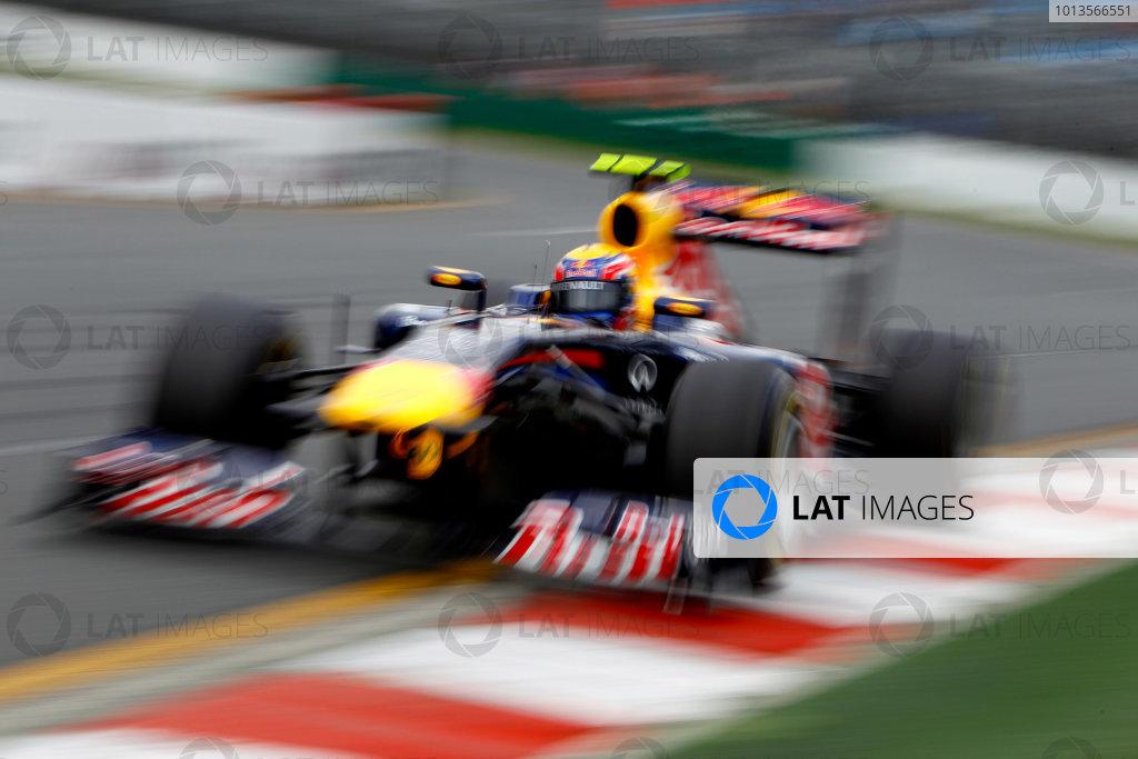 Albert Park, Melbourne, Australia 25th March 2011. Mark Webber, Red Bull Racing RB7 Renault. Action.  World Copyright: Glenn Dunbar/LAT Photographic ref: Digital Image _G7C3399