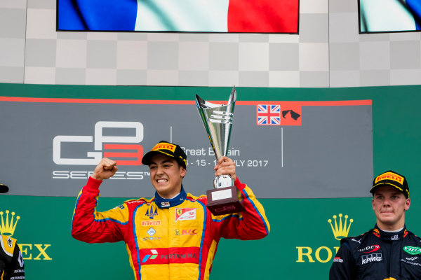 2017 GP3 Series Round 3.  Silverstone, Northamptonshire, UK. Sunday 16 July 2017. Giuliano Alesi (FRA, Trident).  Photo: Zak Mauger/GP3 Series Media Service. ref: Digital Image _56I0196