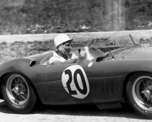 Sebring, Florida, USA. 24th March 1957. Stirling Moss / Harry Schell (Maserati 300S), 2nd position, action.World Copyright: LAT Photographic.Ref: Autocar Used Pic 5th April 1957 Pg 449.