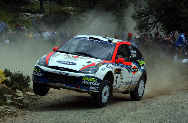 World Rally Championship, Cyprus Rally, April 18-21, 2002.Colin McRae in action on Stage 10, Leg 2.Photo: Ralph Hardwick/LAT