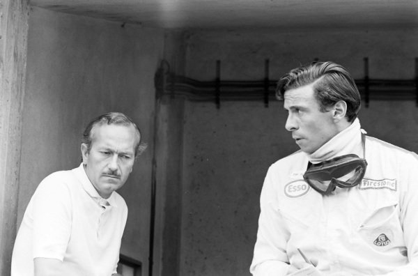 Colin Chapman and Jim Clark.