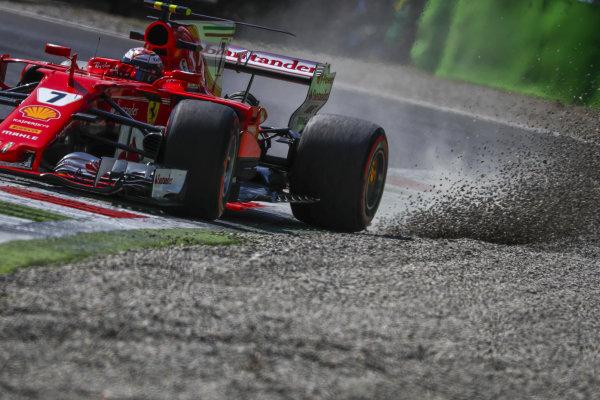 Kimi Raikkonen (FIN) Ferrari SF70-H runs wide at Formula One World Championship, Rd13, Italian Grand Prix, Practice, Monza, Italy, Friday 1 September 2017. BEST IMAGE