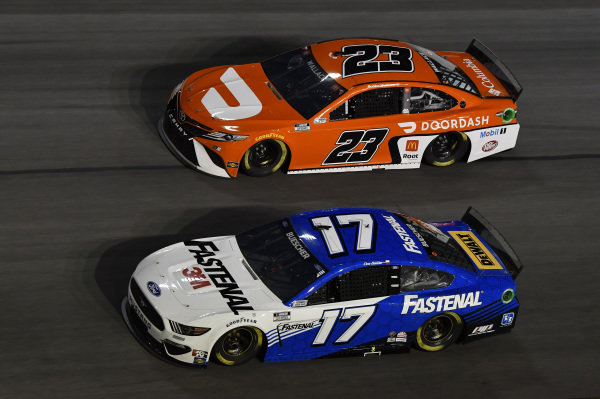 #17: Chris Buescher, Roush Fenway Racing, Ford Mustang Fastenal #23: Bubba Wallace, 23XI Racing, Toyota Camry