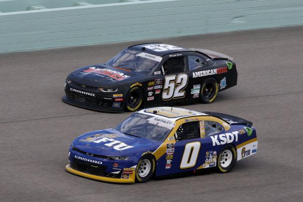 #0: Garrett Smithley, JD Motorsports, Chevrolet Camaro KSDT/Florida Int'l University #52: David Starr, Means Motorsports, Chevrolet Camaro