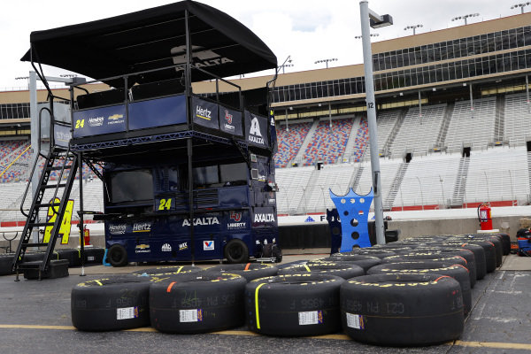 A general view of the pit box of William Byron, Hendrick Motorsports Chevrolet Liberty University, Copyright: Kevin C. Cox/Getty Images.